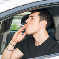 driving while smoking