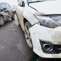 A two car collision