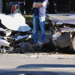 man-in-bwtn-two-cars-that-crashed